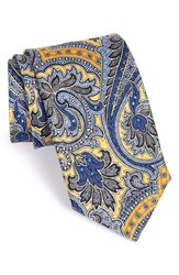 Men's J.Z. Richards Paisley Silk Tie Yellow
