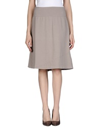 European Culture Knee Length Skirts Dove Grey