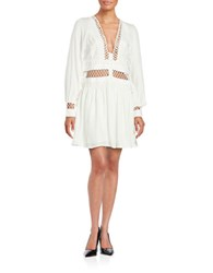 Free People Crochet Accented Dress Ivory
