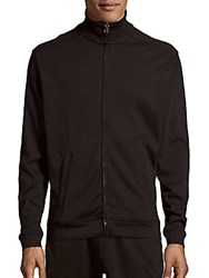 Saks Fifth Avenue Cotton Full Zip Jacket Black