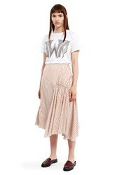 J.W.Anderson Ruched Asymmetrical Skirt Beige White