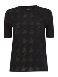 Paul Smith Short Sleeve Tee With Jacquard Pattern Black