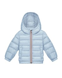Moncler Dominic Hooded Lightweight Down Puffer Coat Light Blue Size 12M 3 Size 12 18 Months
