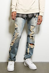 Forever 21 Dope Distressed Jeans Medium Denim