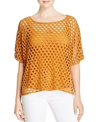 Miraclebody Jeans Miraclebody By Miraclesuit Fiona Mesh Tee Butterscotch