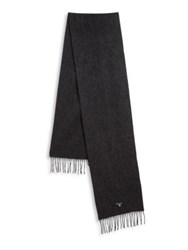 Barbour Fringed Lambswool Scarf Charcoal