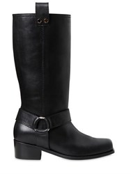 Moschino 40Mm Leather Boots