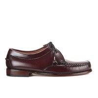 Bass Weejuns Men's Lace Up Leather Loafers Wine Red