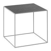 By Lassen Twin Table Black Cool Grey Small