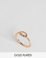 Ny Lon Nylon Rose Gold Plated Knot Ring Rose Gold