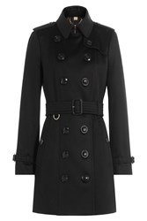 Burberry London Cashmere Trench Coat Black