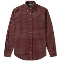 Gitman Brothers Vintage Archive Mini Tartan Shirt Burgundy