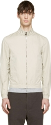 Dsquared Beige Cotton Light Summer Bomber Jacket