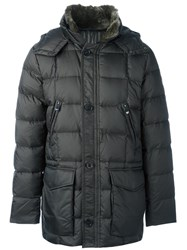 Hetrego Button Down Hooded Jacket Green