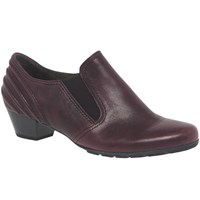 Gabor Chic Closed Court Shoes Merlot Leather