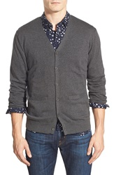 Peter Werth 'Collcross' Trim Fit Marled Knit Cardigan Charcoal Marl