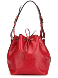 Louis Vuitton Vintage 'Petit Noe' Bucket Shoulder Bag Red