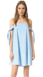 Rebecca Minkoff Mackenzie Off Shoulder Dress Denim Blue