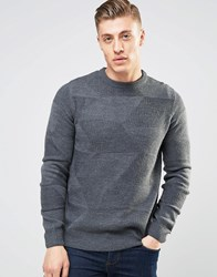 Bellfield Triangle Knitted Knitted Jumper Grey