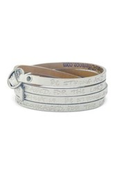 Good Work S Make A Difference Peaceful Wrap Around Scripture Multi Wrap Leather Cuff Bracelet White