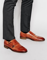 Selected Homme Bolton Monk Leather Shoe Brown