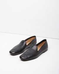 Christophe Lemaire Leather Loafers Black