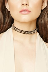 Forever 21 Faux Suede Cable Choker