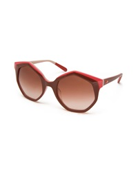 Missoni Seven Sided Butterfly Sunglasses Nude Red