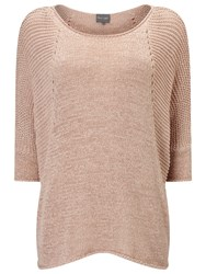 Phase Eight Aideen Tape Yarn Jumper Soft Pink