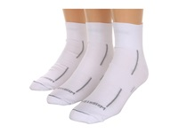 Wrightsock Dl Stride Qtr 3 Pair Pack White Quarter Length Socks Shoes