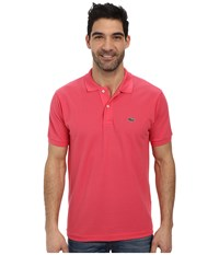 Lacoste L1212 Classic Pique Polo Shirt Dahlia Pink Men's Short Sleeve Knit Brown