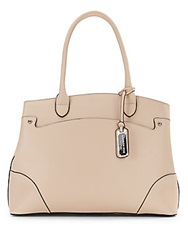 London Fog Embossed Faux Leather Shopper Blush