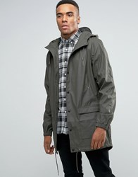 D Struct Longline Water Resistant Jacket With Hood Green Gold