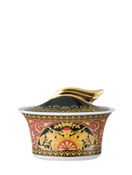 Versace Medusa Red Porcelain Sugar Bowl
