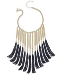 Thalia Sodi Thread Fringe Collar Necklace Only At Macy's Black