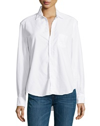 Frank And Eileen Eileen Long Sleeve Button Front Blouse White