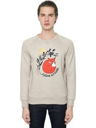 Maison Kitsune Fox Printed Cotton Sweatshirt