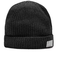 Visvim Wool Knit Beanie Black