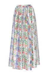 Thierry Colson Grisette Long Floral Printed Skirt