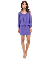 Nicole Miller Leighla Split Sleeve Blouson Dress Violet Women's Dress Purple