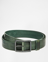 Scotch And Soda Leather Belt Olive