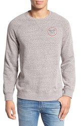 Brixton Men's 'Wheeler' Graphic Crewneck Sweatshirt Heather Grey Maroon