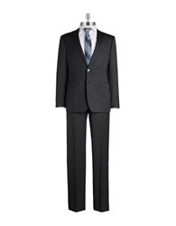 Calvin Klein Two Piece Wool Suit Charcoal