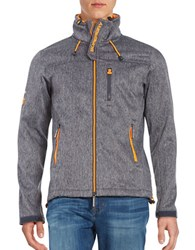 Superdry Textured Zip Front Jacket Orange Zip