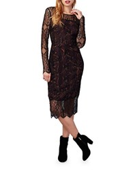 Rachel Roy Lace Overlay Dress Red