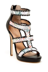 Nicole Miller Zembra High Heeled Sandal Black