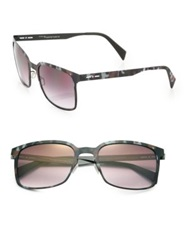 Italia Independent I Metal 52Mm Rectangle Sunglasses Camo Multi