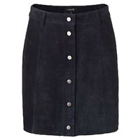 Mbym Navy Suede Skirt