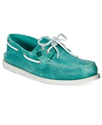 Sperry Men's A O White Cap Boat Shoes Men's Shoes Turquoise