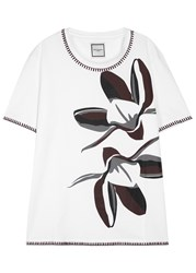 Wooyoungmi White Printed Cotton T Shirt